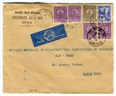 Enveloppe Commerciale De Sfax Pour Paris En 1939 Par Avion   Référence 512 - Briefe U. Dokumente
