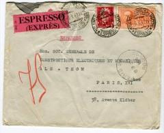 Enveloppe En Exprès De Milan Pour La France En 1940  Référence 523 - 1900-44 Victor Emmanuel III.