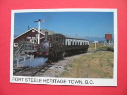 FORT STEELE HERITAGE TOWN,B.C.Steam At Fort Steele - Bahnhöfe Mit Zügen