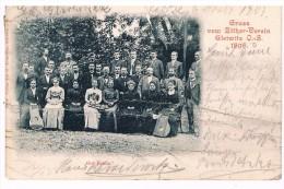 CPA Dos Non Divisé Très Abîmée : Gut Klang - Harmonie - Gruss Von Zither-Verein Gleiwitz 1898 Club De Cithare Gliwice - Music And Musicians