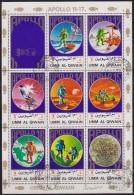 R78. Umm Al-Qiwain, 1973, Cosmos - Apollo 11-17 Space, Sheet, Used (o) - Umm Al-Qiwain