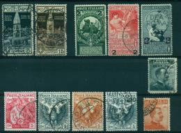 REGNO 1912-16 LOTTO CAMPANILE CROCE ROSSA UNITA' MICHETTI  HIGH VALUE - 1900-44 Vittorio Emanuele III