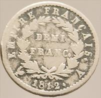 Demi Franc - Napoléon Premier - France - 1812 A - Paris - Argent  - TB - - G. 50 Centimes