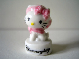 Fève Brillante - Charmmykitty - Hello Kitty - Chaton Headband Et Chapeau Rose - Sanrio - Animaux