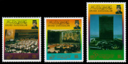 Brunei, 1995, United Nations 50th Anniversary, MNH, Michel 493-495 - Brunei (1984-...)