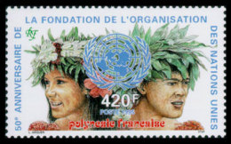 French Polynesia, 1995, United Nations 50th Anniversary, MNH, Michel 693 - Polynésie Française