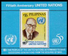 Philippines, 1995, United Nations 50th Anniversary, MNH, Michel Block 88 - Philippines