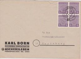 ALLEMAGNE 1946 LETTRE DE ASCHERLEBEN - Zone Soviétique