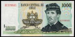 CHILE PAPER CREASE ERROR 1000 PESOS 2008 Pick 154g Unc - Chile