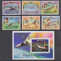 Liberia 1978 Aviation / Airplanes 6v + M/s Used Cto (27403) - Liberia