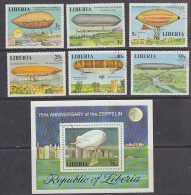 Liberia 1976 Zeppelin 6v + M/s Used Cto (27404) - Liberia