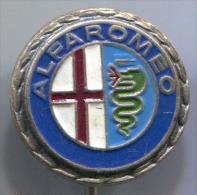 ALFA ROMEO - Car Auto Automobile, Vintage Pin, Badge - Alfa Romeo