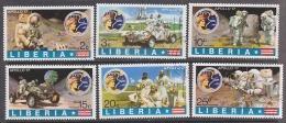 Liberia 1973 Apollo 17 6v Used Cto (27406) - Space