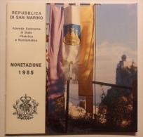 LIBRETTO DELLE MONETE DI SAN MARINO DEL 1985 - SOLO LIBRETTO NON CONTENITORE E MONETE - - Materiale