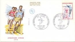 FRANCE ATLETIC JUNIORES  PARIS FDC  (M1600038) - Giochi Olimpici