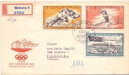 CESKOSLOVENSKO  REGISTRED MAIL OLYMPISCHE 1960  (M1600040) - Giochi Olimpici
