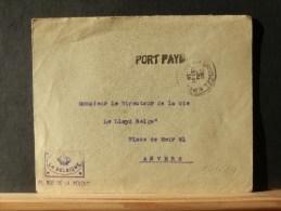 57/614  LETTRE  BRUSSEL  1918   PP  POUR ANVERS - Belgique