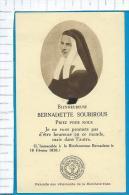 Relic  Reliquia  St.  Bernadette - Devotion Images