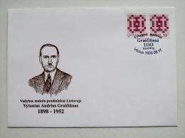 Cover From Lithuania Special Cancel 1998 Graiciunas - Lithuania