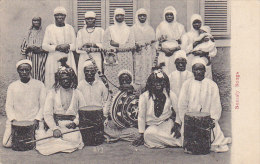 Afrique - Somalie - Musique Tambour Harpe - Somaly Songs - Postmarked Aden Singapore 1909 - Somalia