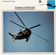 WESLAND   COMMANDO      2 SCAN   (NUOVA  CON DESCRIZIOENE TECNICA SUL RETRO) - Elicotteri