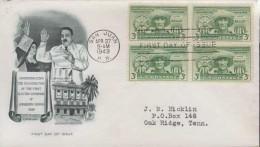 USA.Luis Munoz Marin.Puerto Rico 1949.FDC 004 - Verenigde Staten