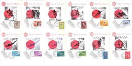 Serie N° 12  Cartoline MAXIMUM REPUBBLICA SAN MARINO - I° Giorno FAIP - Olimpiadi Di Tokio - Cartes Postales