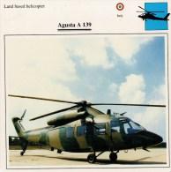 AUGUSTA  A  139       2 SCAN   (NUOVA  CON DESCRIZIOENE TECNICA SUL RETRO) - Elicotteri
