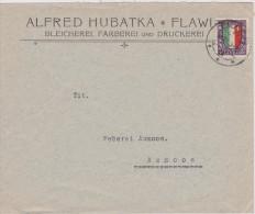 SUISSE 1923 LETTRE DE FLAWIL - Storia Postale