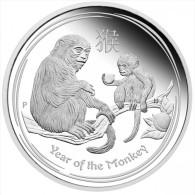 AUSTRALIA - Lunar 2016 Year Of The Monkey II - 1 Ounce Fine Silver BU Prooflike - Mint Sets & Proof Sets
