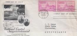 USA. Thomas Jeffereson/Theodore Sedgwick Goverment In Washington D.C.1800-1950.FDC 011 - United States