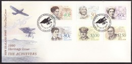 New Zealand #987-92 F-VF Unaddressed Cacheted FDC - Famous New Zealanders (1990) - FDC