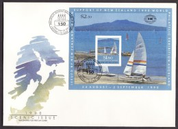 New Zealand #996a S/sheet F-VF Unaddressed Cacheted FDC - Scenery (1990) - FDC