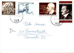 AUTRICHE. N°1268 De 1974 Sur Enveloppe Ayant Circulé. Bruckner/Hockey Sur Glace. - Música