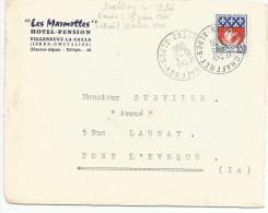 OBLITERATION MANUELLE SUR LETTRE A EN TETE DE SAINT CHAFFREY (HAUTES ALPES) DU 15/3/1966 - Marcophilie (Lettres)
