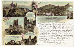 Allemagne Germany Gruss Aus Konigswinter 1900 Multivues (7) Tamway Cremaillere - Koenigswinter