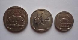 SOUTH AFRICA - 3pièces - 5 RAND 1995 - 2 RAND 2007 Et  1RAND2003 - Afrique Du Sud