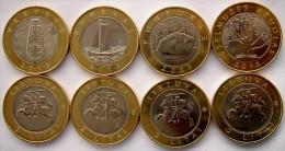 LATVIA LITUANIA SERIE 4 MONETE DA 2 LITAI BIMETALLICHE 2013-2014 FDC UNC - Lituania
