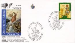 """1997 - Vatican - FDC - """"SURREXIT CHRISTUS ALLELUIA"""" Vers L'année Sainte 2000 - """"La Tentation Dans Le Désert"""" (Yvert N°10 - FDC"""
