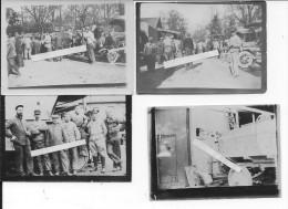 Nord De La France Soldats Français Mécaniciens Atelier De Réparations Automobiles 4 Photos 1914-1918 14-18 Ww1 Wk1 - War, Military