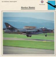 HAWKER  HUNTER       2 SCAN  (NUOVO CON DESCRIZIOENE TECNICA  SUL RETRO) - 1946-....: Moderne