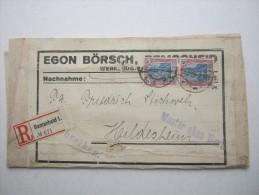 1922 , Remscheid , Einschreiben - Muster , Reine Mehrfachfrankatur - Briefe U. Dokumente