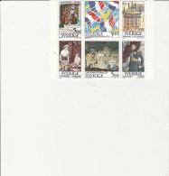 SUEDE - TIMBRES 1794 A 1799  EN BLOC DE 6 NEUF XX -RELATIONS FRANCE - SUEDE - ANNEE 1994. - Sweden