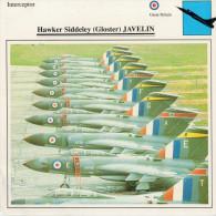 HAWKER  SIDDELEY (GLOSTER)  JAVELIN    2 SCAN  (NUOVO CON DESCRIZIOENE TECNICA  SUL RETRO) - 1946-....: Moderne