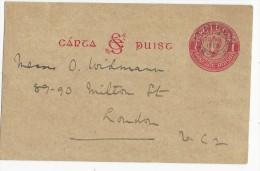 IRLANDE - 1926 - CARTE POSTALE ENTIER De BAILE ATHA CLIATH Pour LONDON - RARE Ref. MICHEL N° P2a - Entiers Postaux