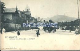 31804 SPAIN ESPAÑA SAN SEBASTIAN GUIPUZCOA PAIS VASCOHOTELES DE LA CONCHA CARRIAGE A HORSE POSTAL POSTCARD - Spagna