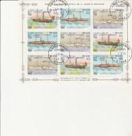 SAINT THOMAS ET PRINCE -N° 796 A 798 OBLITERE EN BLOC DE 9 TB  ANNEE 1984- THEMATIQUE BATEAUX ANCIENS - Sao Tome Et Principe