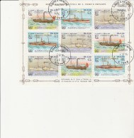 SAINT THOMAS ET PRINCE -N° 796 A 798 OBLITERE EN BLOC DE 9 TB  ANNEE 1984- THEMATIQUE BATEAUX ANCIENS
