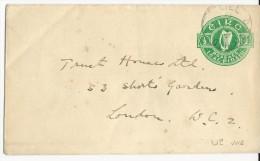 IRLANDE - 1932 - ENVELOPPE ENTIER Pour LONDON - RARE Ref. MICHEL N° U2 Avec FILIGRANE - Entiers Postaux