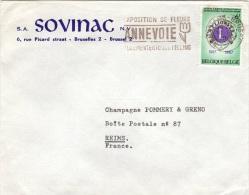 BEL-L25 - BELGIQUE N° 1405 Lions Club Avec Flamme Exposition Florale à Annevoie Sur Lettre Pour Reims - Autres